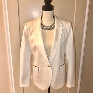 NWOT Zara Basic Cream and Tan Blazer Size XL